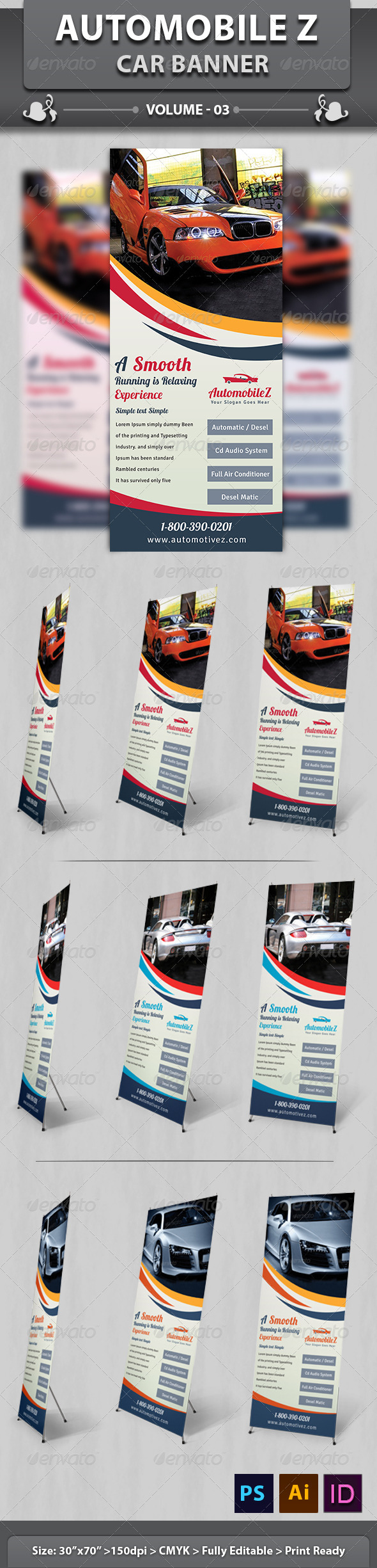 Automobile Business Banner | Volume 3 - Signage Print Templates