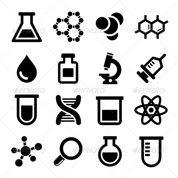 Chemical Icons Set - Miscellaneous Icons