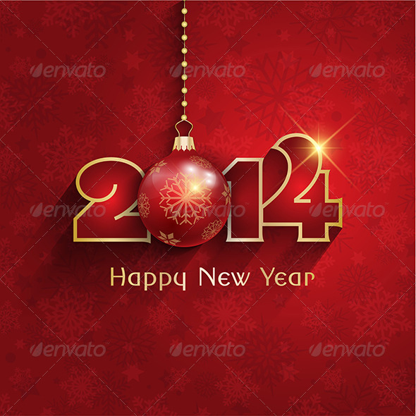 New Year Bauble Background - New Year Seasons/Holidays