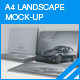 A4 Landscape Brochure Mock-up - GraphicRiver Item for Sale