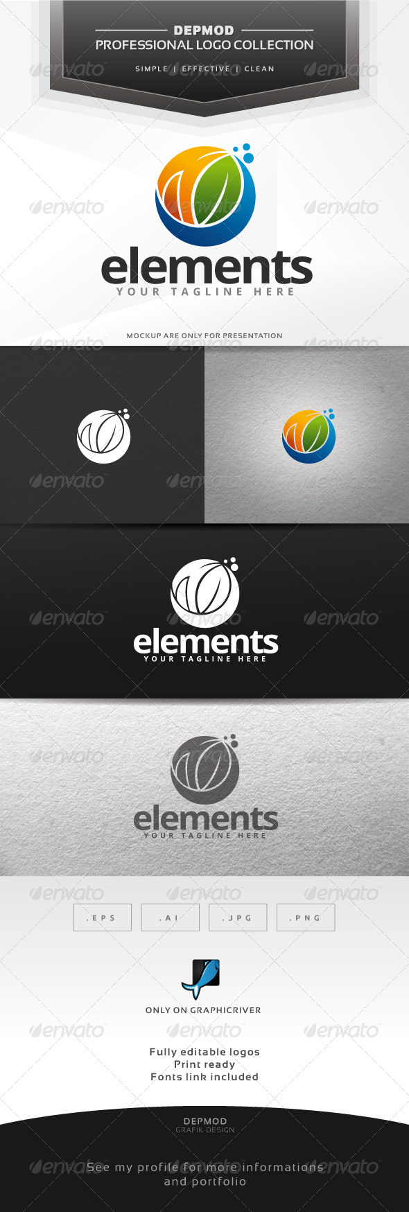 Elements Logo - Nature Logo Templates