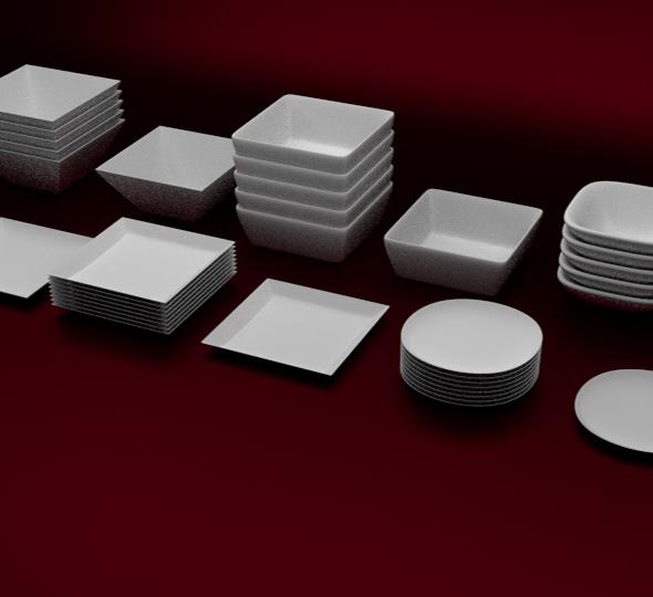 Plates Set - 3DOcean Item for Sale
