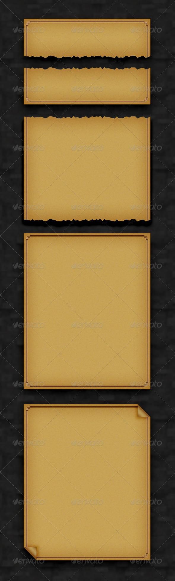RPG Parchment - User Interfaces Web Elements