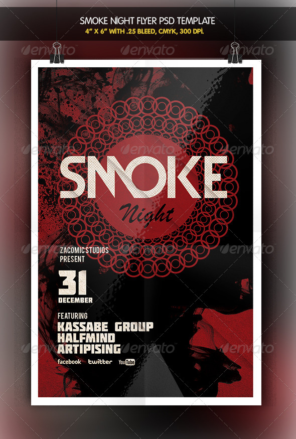 Smoke Night | Party Flyer - Clubs & Parties Events