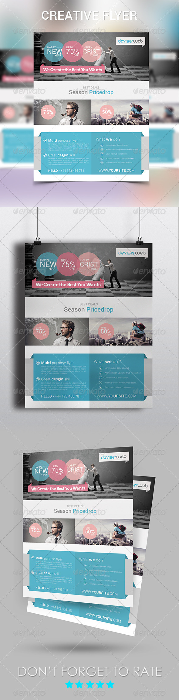 Creative Design Agency Flyer  - Corporate Flyers