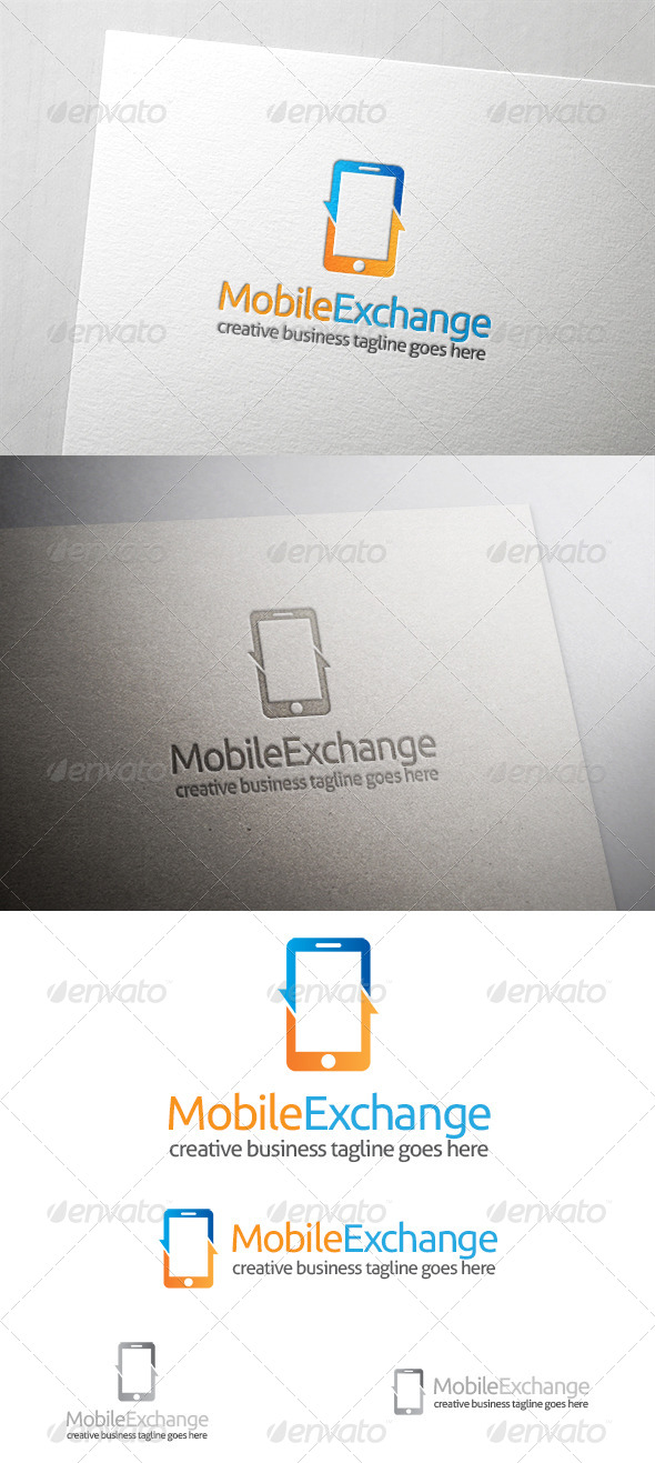 Mobile Exchange Logo - Objects Logo Templates
