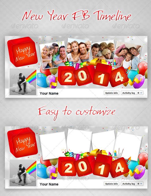 New Year FB Timeline  V2 - Facebook Timeline Covers Social Media