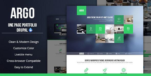 Argo - Modern OnePage Metro UI Drupal Theme - Drupal CMS Themes