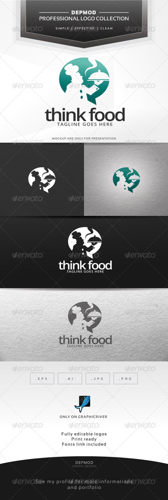 Think Food Logo - Food Logo Templates