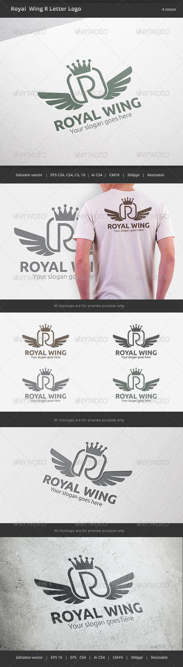 Royal Wing Letter R Logo - Letters Logo Templates