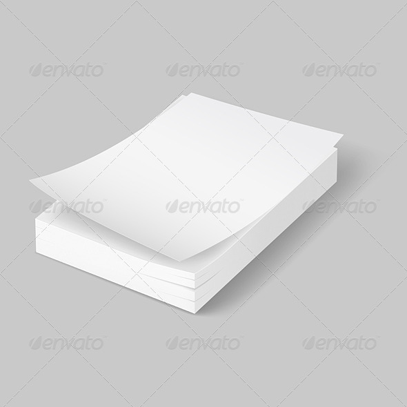 Stack of Blank Papers. - Concepts Business