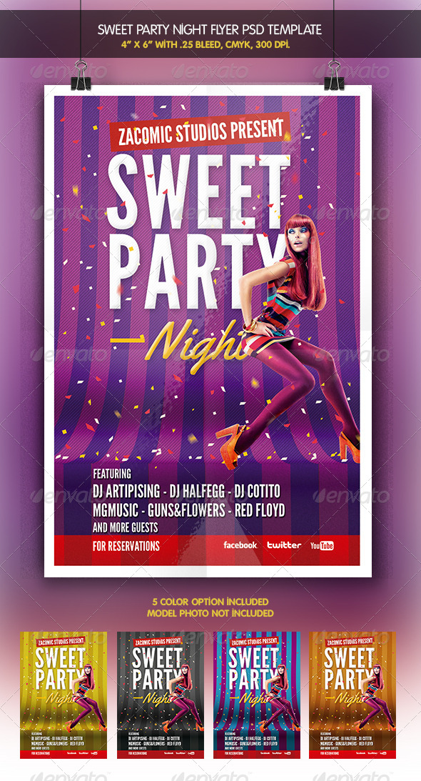 Sweet Night | Party Flyer - Clubs & Parties Events