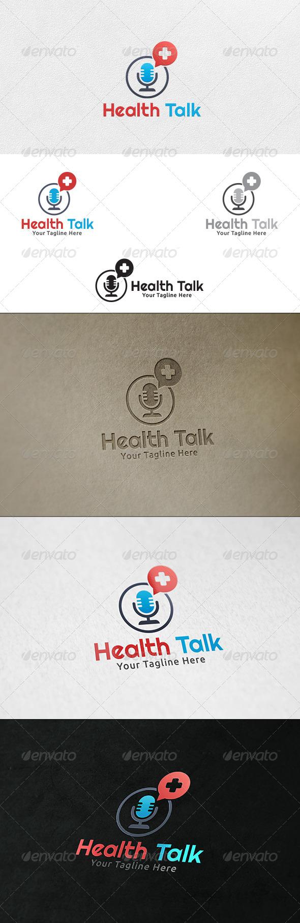 Health Talk - Logo Template - Symbols Logo Templates
