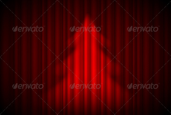 Christmas Tree in Theater Style - Miscellaneous Vectors