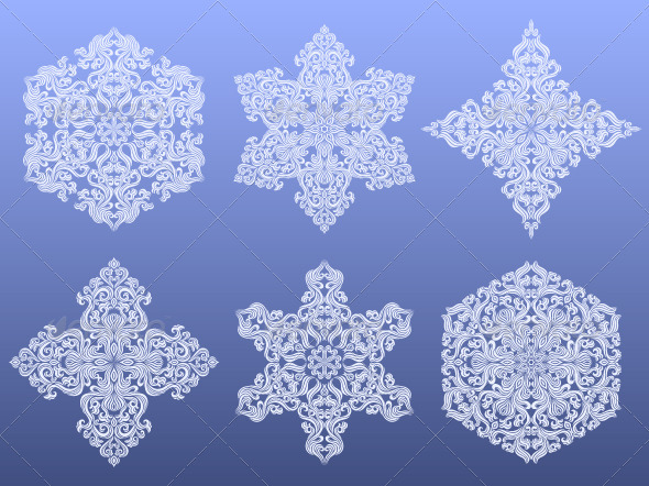 Set of decorative christmas snowflakes - Christmas Seasons/Holidays
