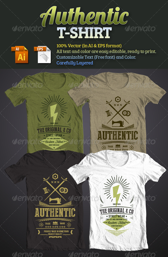 Authentic T-Shirt - T-Shirts