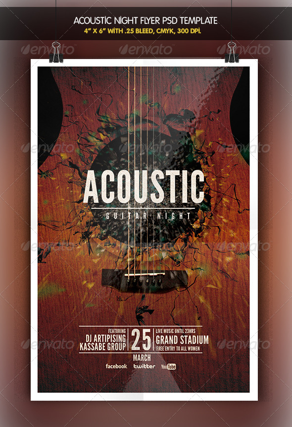 Acoustic Night | Unplugged Flyer - Clubs & Parties Events