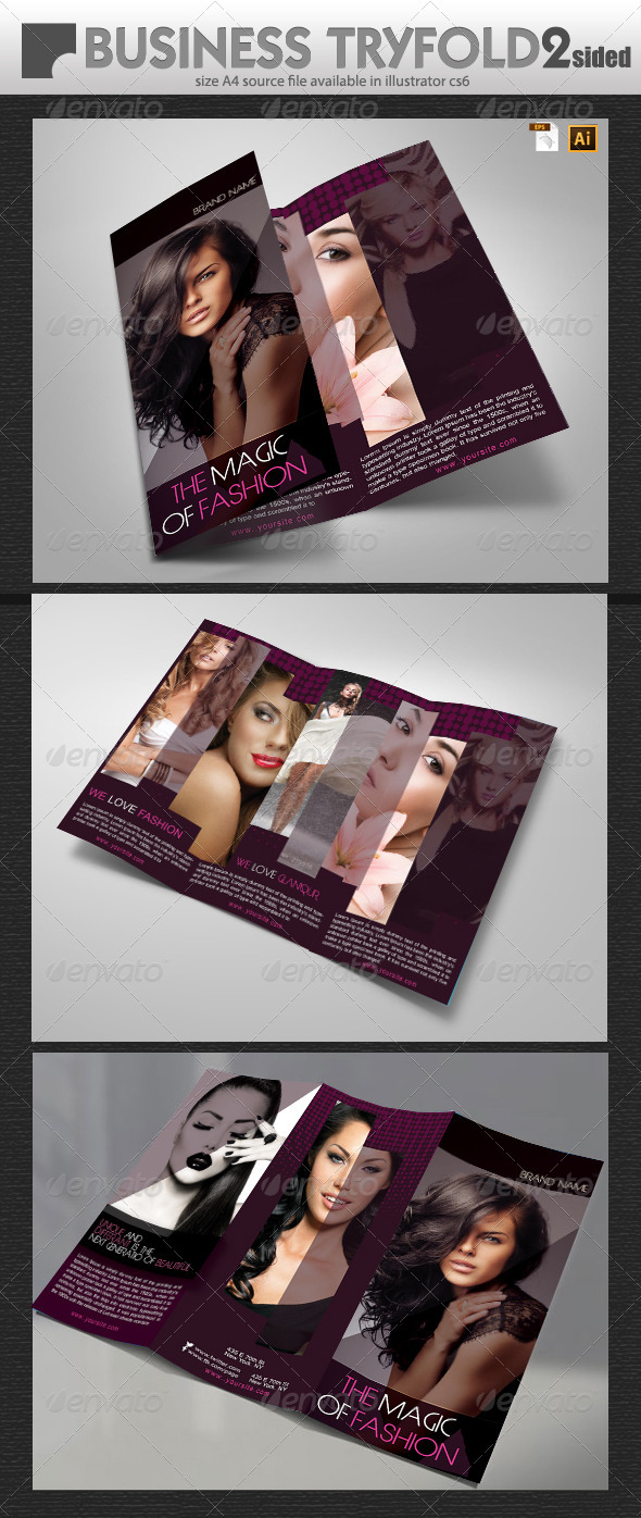 Women Fashion Brochure - Brochures Print Templates
