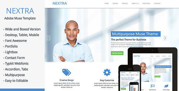 Nextra – Multi-Purpose Muse Template