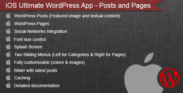 iOS Ultimate WordPress App - Posts and Pages - CodeCanyon Item for Sale