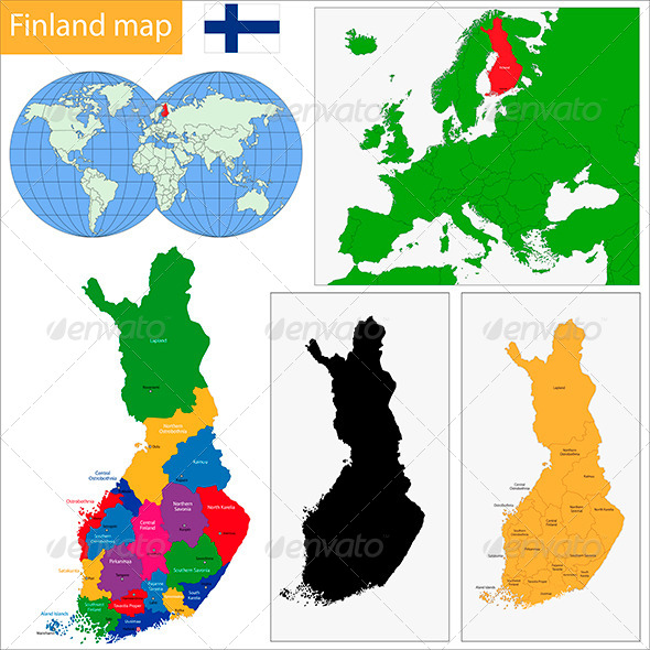 Finland Map - Travel Conceptual