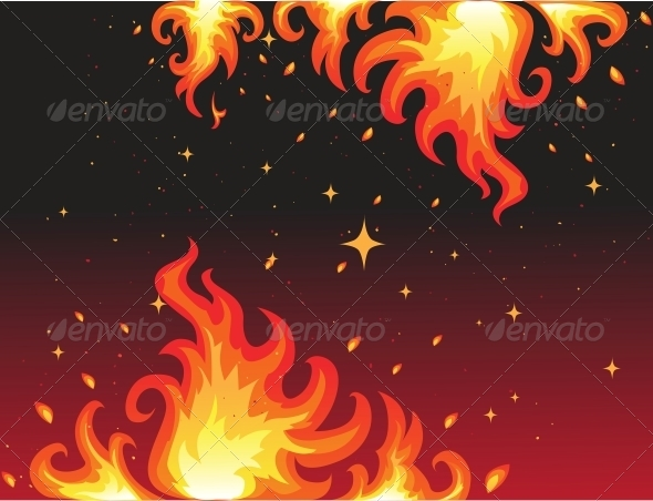 Hot Fire Background Banner - Miscellaneous Conceptual