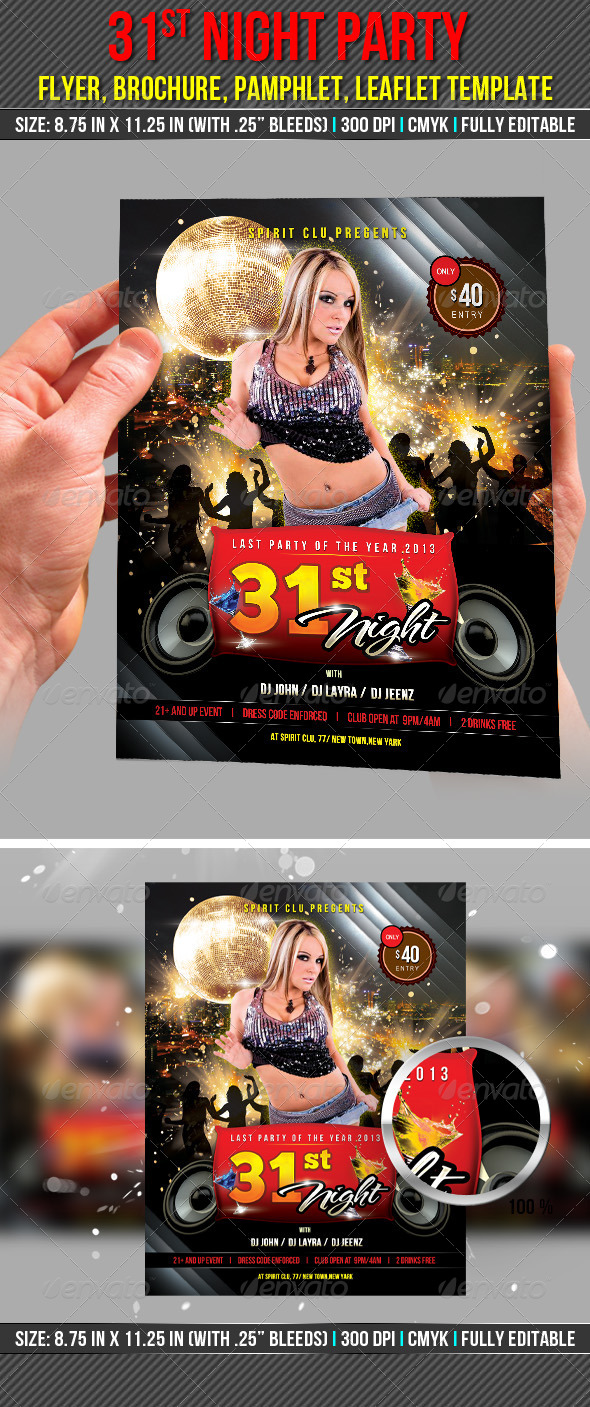 31st Night Party Flyer - Clubs & Parties Events