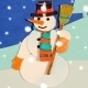 Snowman and Snowball - Loop Stop Motion - VideoHive Item for Sale