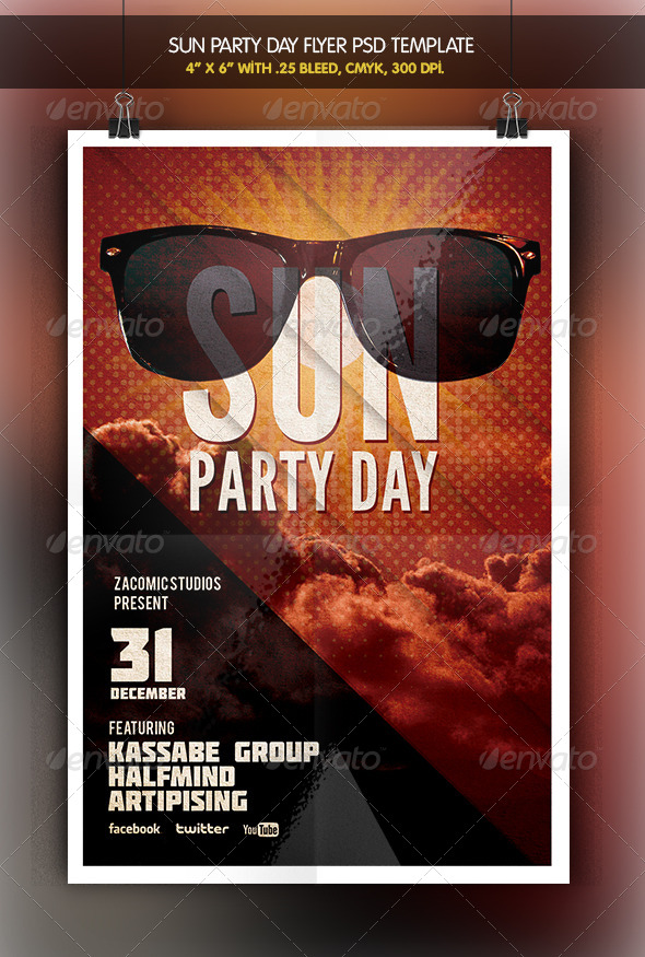 Sun Party | Flyer Template - Clubs & Parties Events
