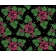 Background Pattern from Pink Flowers on Black - GraphicRiver Item for Sale