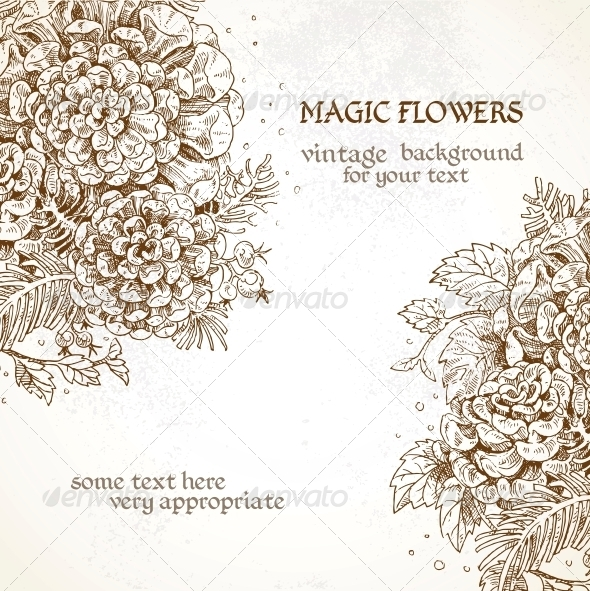 Vintage Background Magic flowers - Flowers & Plants Nature
