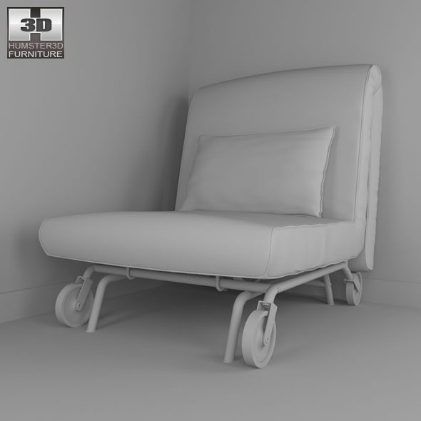 ikea ps lovas chair bed 3d model by humster3d 3docean. Black Bedroom Furniture Sets. Home Design Ideas