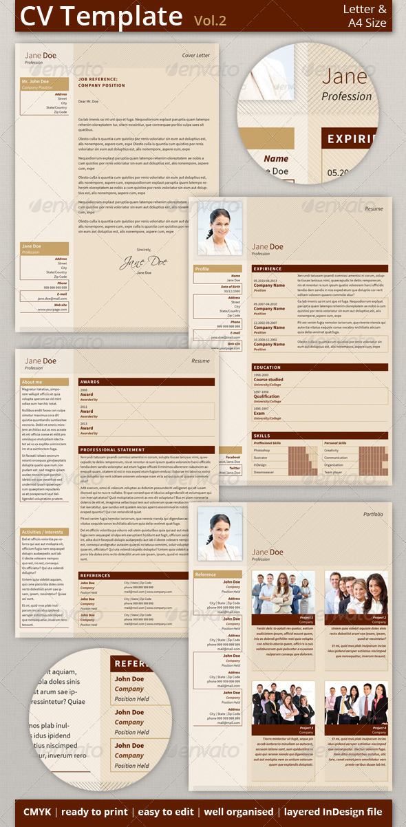 CV/Resume Template Set (vol.2)