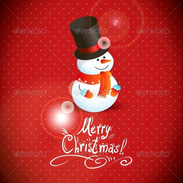 Snowman Illustration for Christmas Design.  - Patterns Decorative