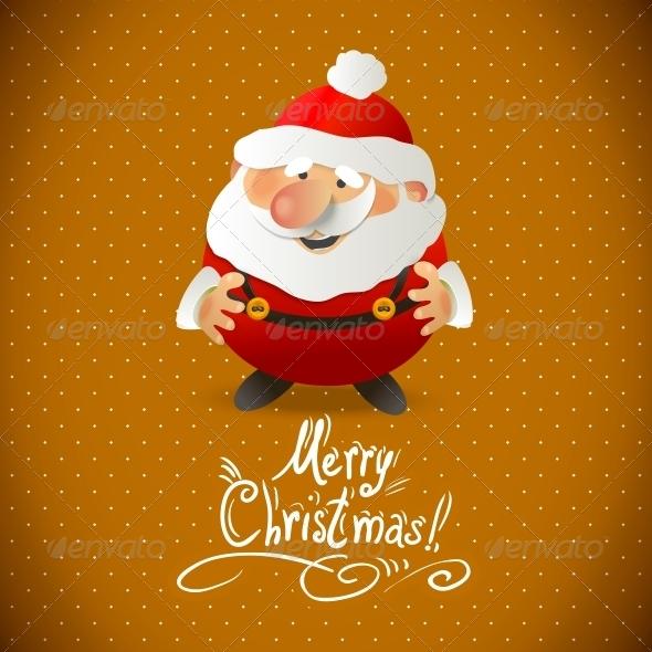 Santa Claus Vector Illustration.  - Patterns Decorative