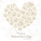 Valentine's Day Banner with White Roses  - GraphicRiver Item for Sale