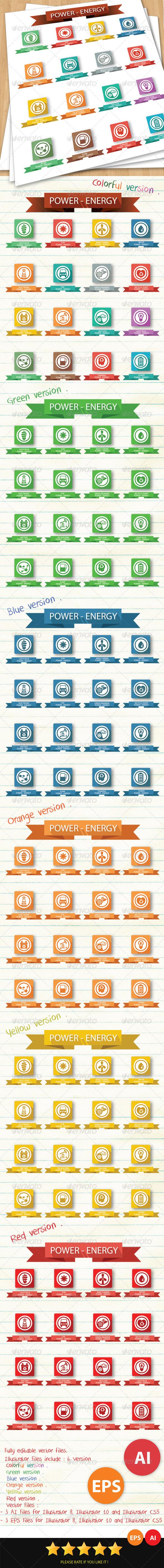 Power & Energy Icons - Icons