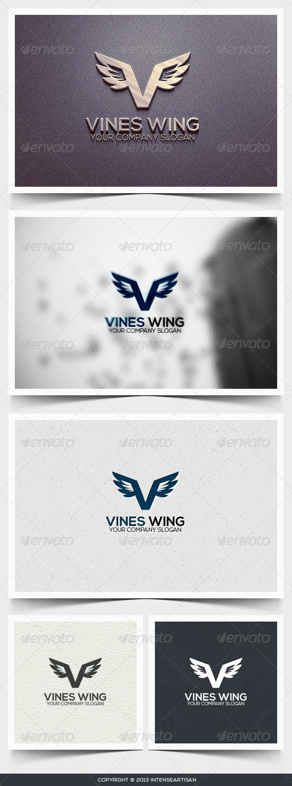 Vines Wing Logo Template - Letters Logo Templates