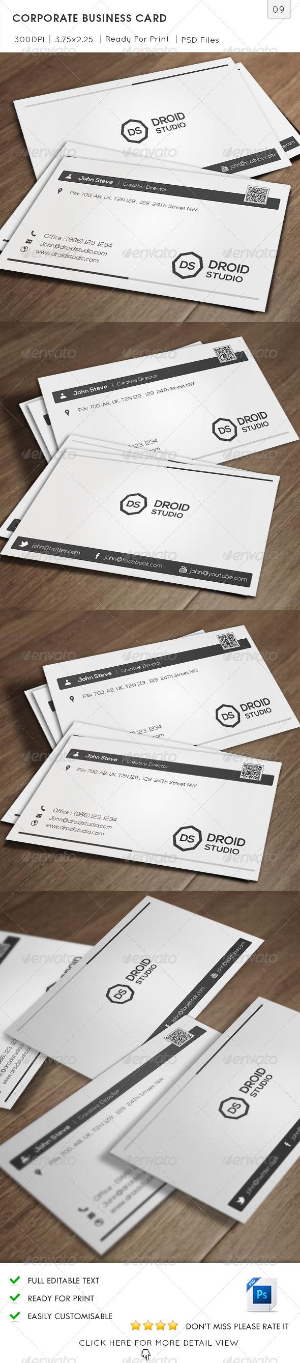Corporate Business Card v09 - Corporate Business Cards