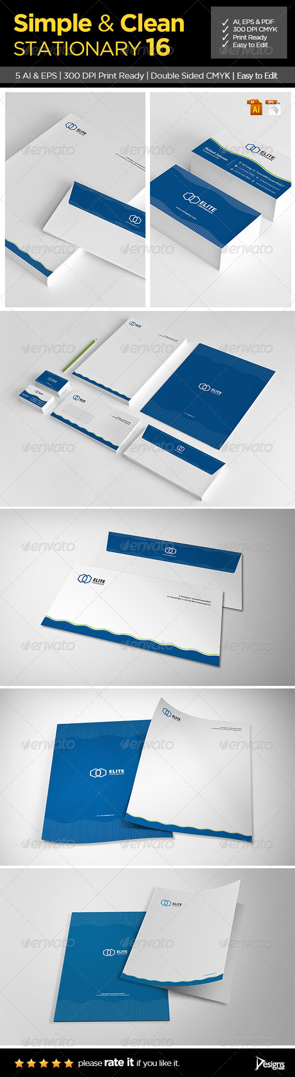 Simple and Clean Stationary 16 - Stationery Print Templates