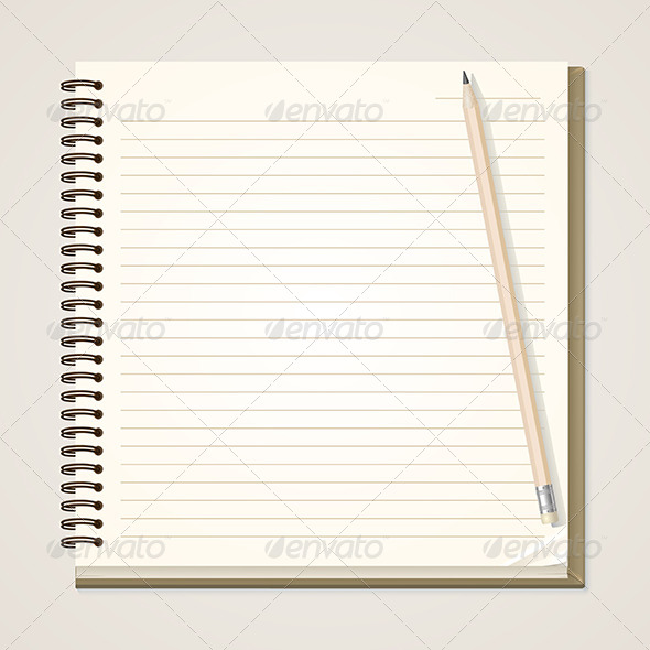 Paper Notebook and Pencil - Concepts Business