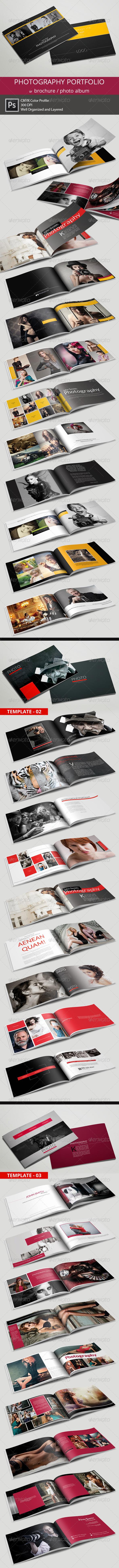 Photography Portfolio or Photo Album Bundle - Portfolio Brochures