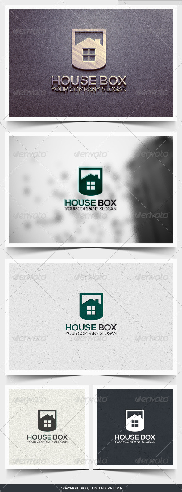 House Box Logo Template - Buildings Logo Templates