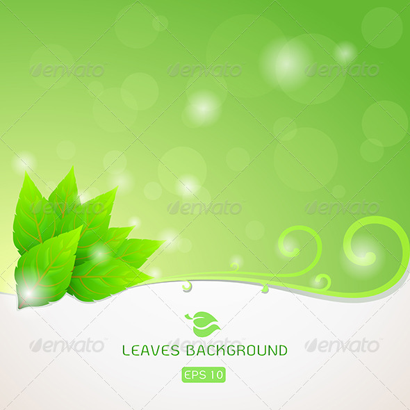 Green Leaves Ecology Background - Nature Conceptual