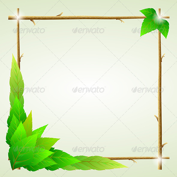 Green Leaves Ecology Background - Backgrounds Decorative