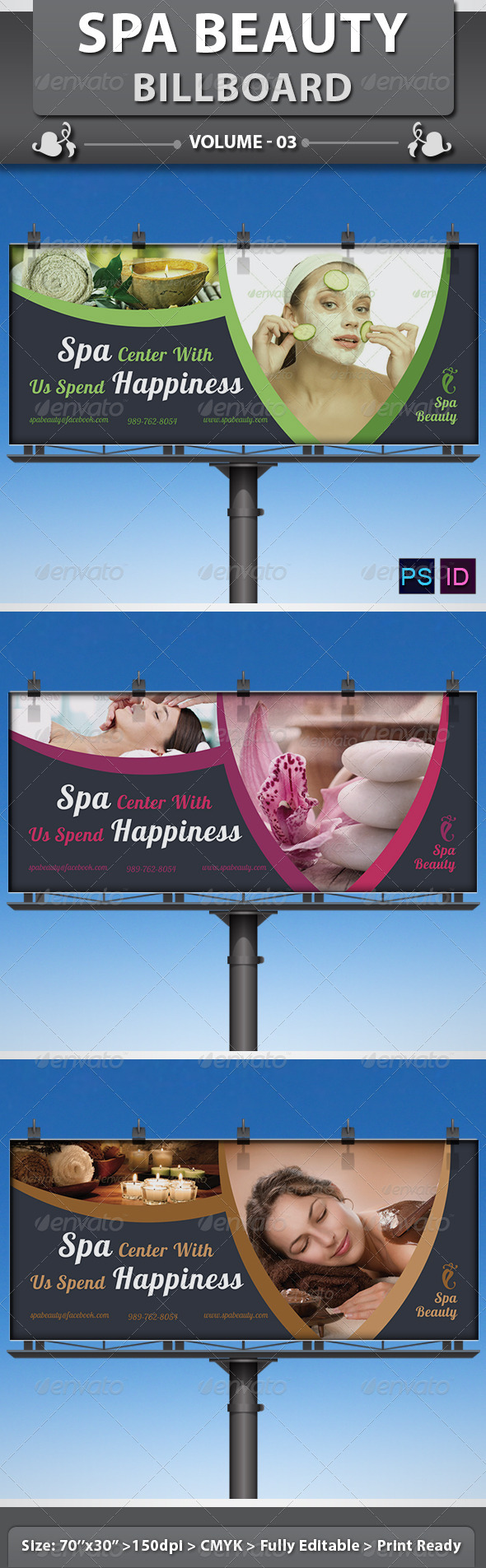Spa Beauty Saloon Billboard Volume 5 By Dotnpix Graphicriver