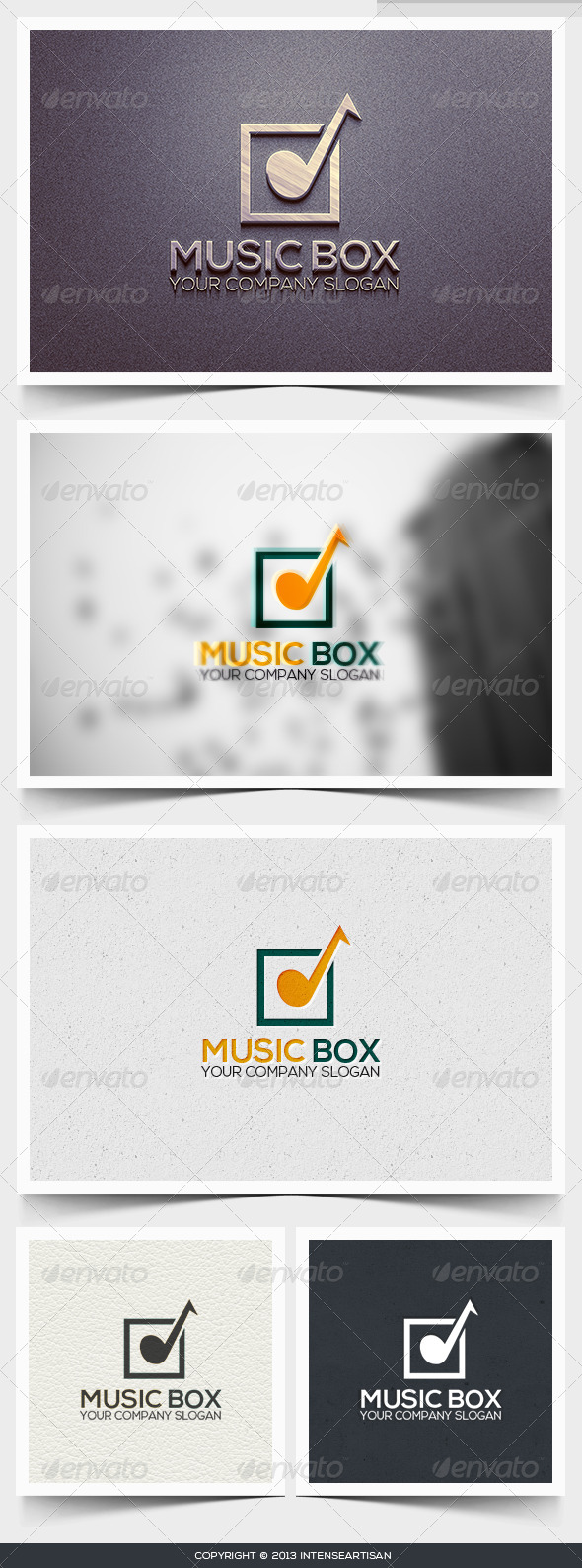 Music Box Logo Template - Objects Logo Templates