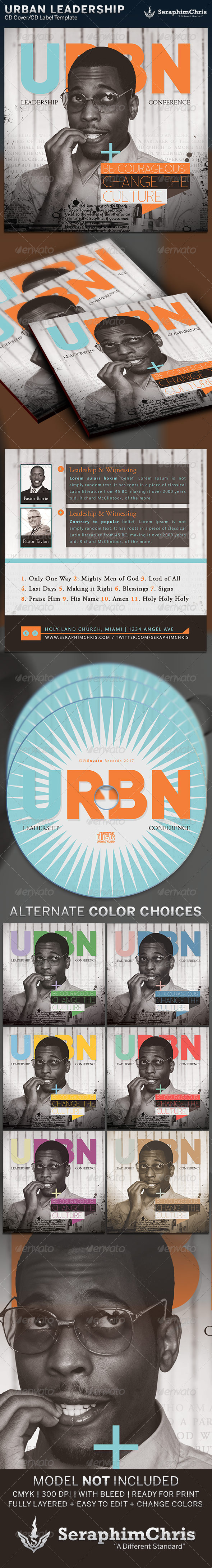 Urban Leadership: CD Cover Artwork Template - CD & DVD Artwork Print Templates