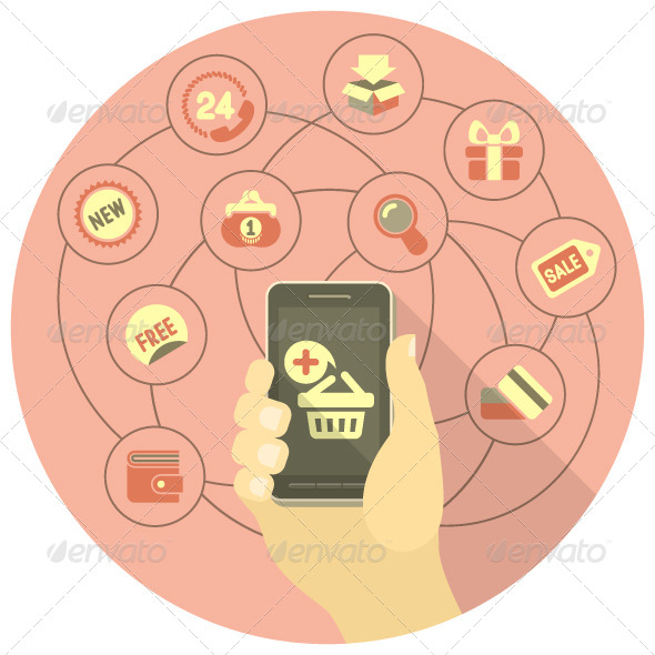 Online Shopping Concept with a Phone - Retail Commercial / Shopping