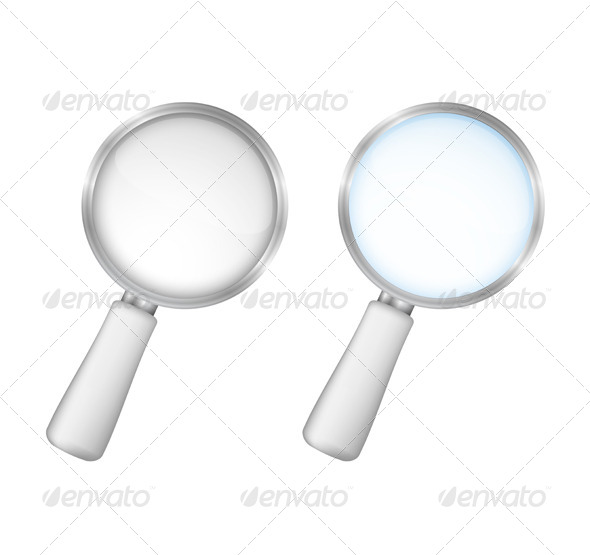 Magnifying Glasses - Objects Vectors